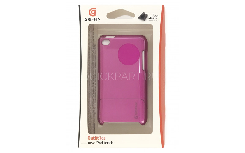 Чехол для Apple iPod Touch 4 Griffin Outfit Ice <GB01941> Pink