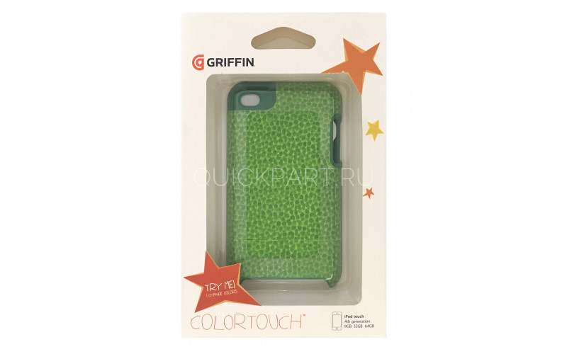 Чехол для Apple iPod Touch 4 Griffin ColorTouch <GB02928> green/yellow