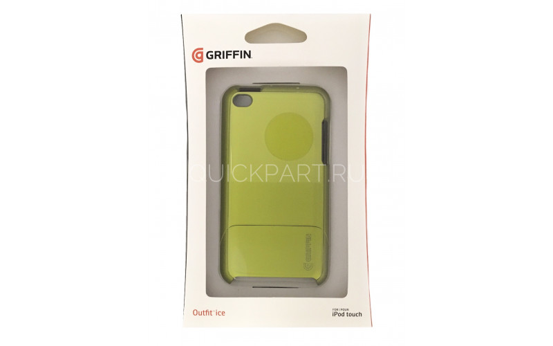 Чехол для Apple iPod Touch 4 Griffin Outfit Ice <GB02962> Acid green
