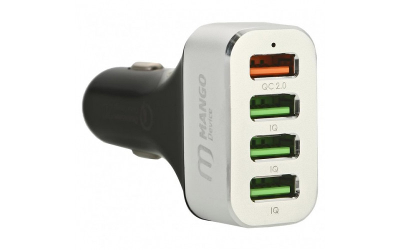 АЗУ Mango Device Quick Charge 2.0 (silver, 4USB car charger)