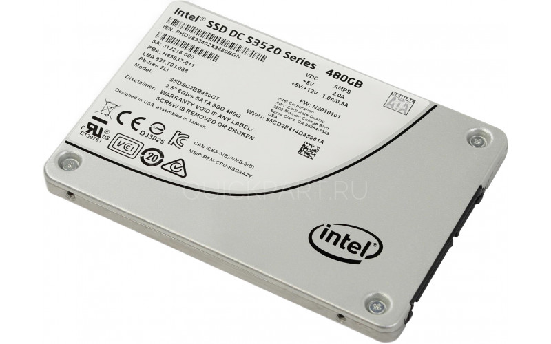 SSD Intel DC 480GB S3520 Series, SSDSC2BB480G701