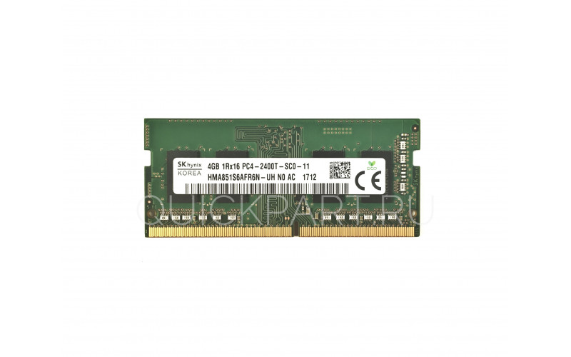 4Gb SO-DIMM DDR4 Hynix (PC4-19200, 2400, CL17)  1.2V original