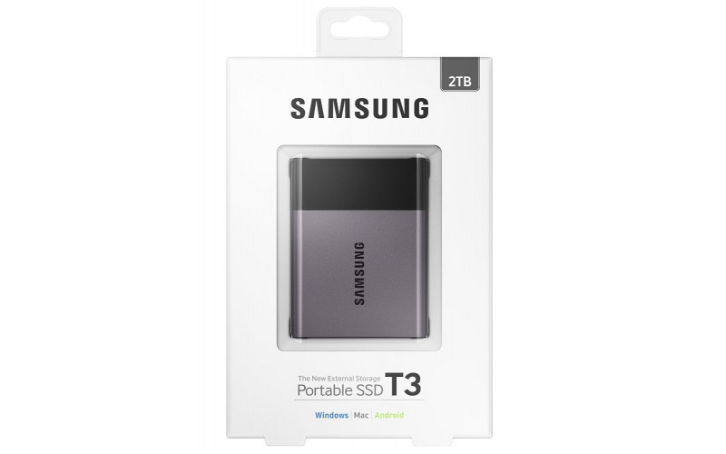 SSD Samsung 2000Gb T3, TLC V-NAND, ext. USB3.1/Type-C Retail