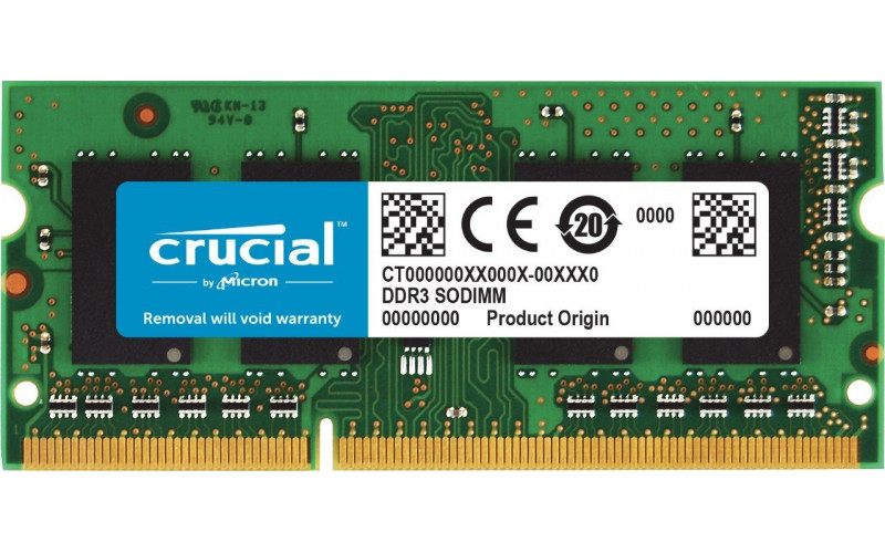 4Gb SO-DIMM DDR3L Crucial (PC3-12800, 1600, CL11) 1.35V original
