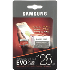 Карта памяти Samsung 128GB EVO Plus, MB-MC128GA