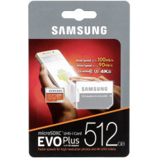 Карта памяти Samsung EVO Plus 512GBb, MB-MC512GA